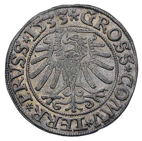 grosz 1533, Toruń, delikatna patyna