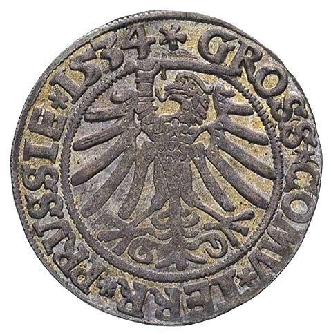 grosz 1534 Toruń, patyna