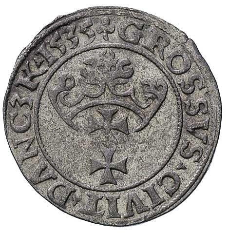 grosz 1535, Gdańsk, na awersie gwiazdka, na rewersie tr...