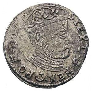 trojak 1581, Wilno, herb Leliwa pod popiersiem króla, I...