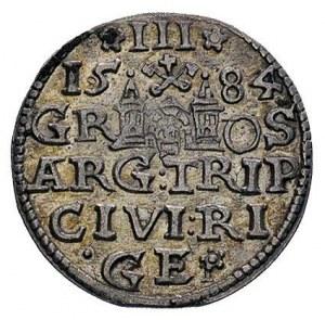 trojak 1584, Ryga, Kruggel 7, napis na rewersie zakończ...
