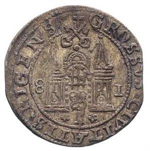 grosz 1581, Ryga, 3.1, T. 1,50, odmiana ze skróconą dat...