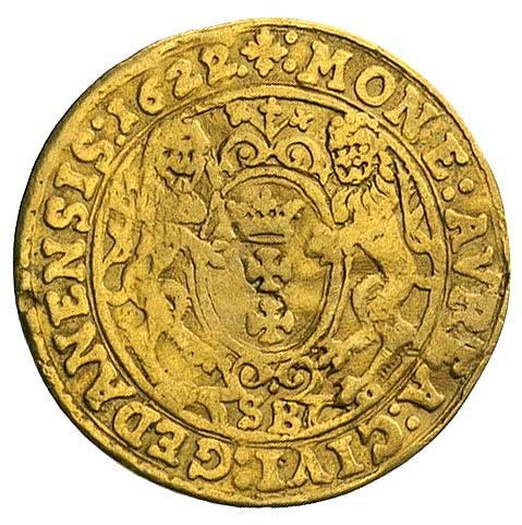 dukat 1622, Gdańsk, H-Cz. 1447 (R3), Kaleniecki s. 189,...