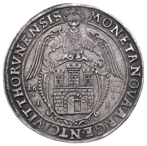 talar 1631, Toruń, na awersie koniec napisu RVS PRVS MA...
