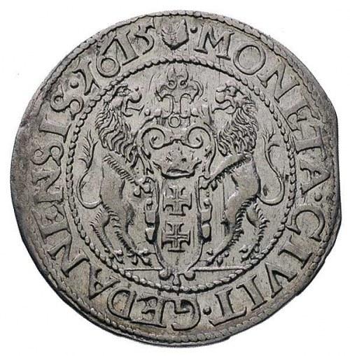 ort 1615, Gdańsk, kropka za łapą niedźwiedzia, T. 1,50,...