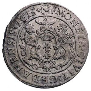 ort 1615, Gdańsk, popiersie króla w szerokiej kryzie, d...