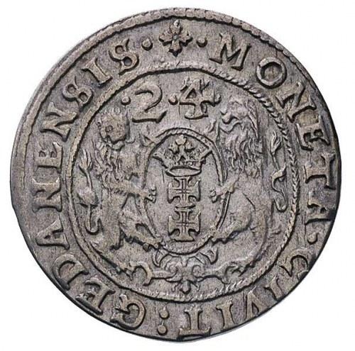 ort 1624/3, Gdańsk, odmiana z kropką pomiędzy cyframi d...