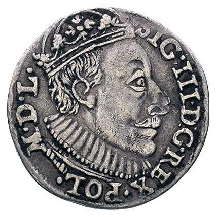 trojak 1588, Olkusz, odmiana z popiersiem króla jak na ...