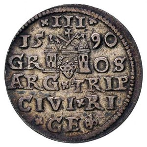 trojak 1590, Ryga, Kruggel 22, patyna