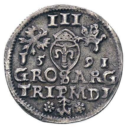 trojak 1591, Wilno, Ivanauskas 1057:209, patyna