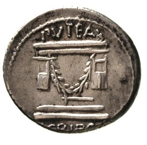 L. Scribonius Libo 62 pne, denar, Aw: Popiersie Bonusa ...