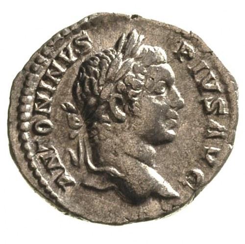 Karakalla 198-217, denar, Aw: Popiersie cesarza w prawo...
