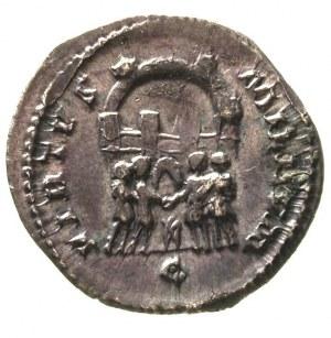 Galeriusz 293-311, silikwa, Aw: Popiersie cesarza w pra...