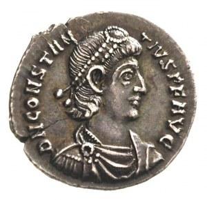 Konstancjusz II 337-361, silikwa, Sirmium, Aw: Popiersi...