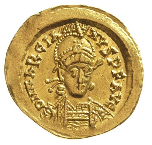 Marcjan 450-457, solidus, Konstantynopol, oficyna H, Aw...