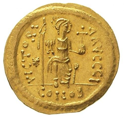 Justyn II 565-578, solidus, ok. 565-567, Konstantynopol...