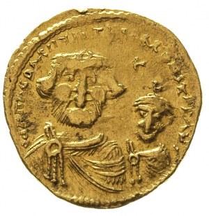 Herakliusz 610-641, solidus, Konstantynopol, oficyna E,...