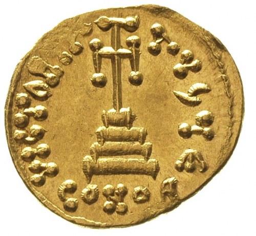 Konstans II 654-668, solidus, Konstantynopol, oficyna E...