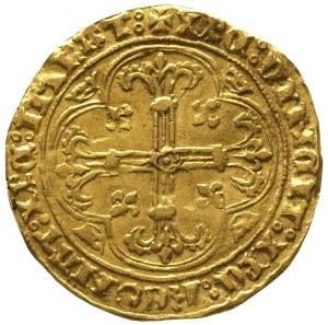 Karol VII 1422-1461, royal d'or (1429-1431), Aw: Stojąc...