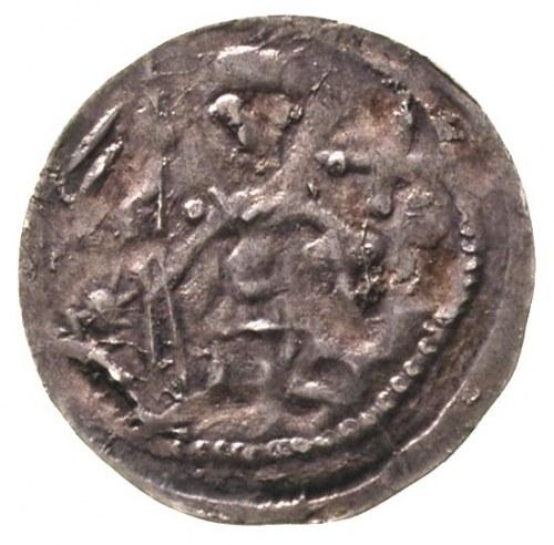 Bolesław IV Kędzierzawy 1146-1173, denar, Aw: Dwaj ksią...