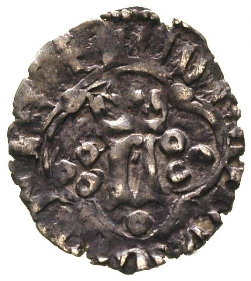 Ludwik Węgierski 1370-1382, kwartnik ruski, Aw: Ukorono...