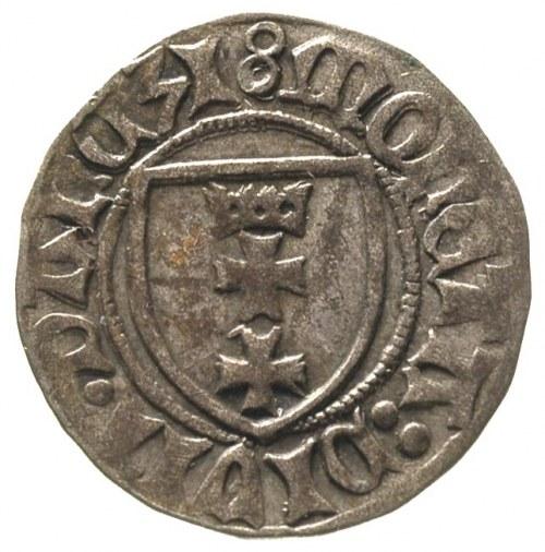 Kazimierz Jagiellończyk 1446-1492, szeląg gdański, Aw: ...