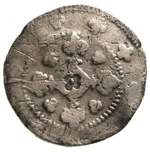 Henryk III 1273-1309, kwartnik, Żagań, Aw: Głowa niedźw...