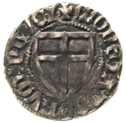 Konrad III von Jungingen 1393-1407, szeląg, Aw: Tarcza ...
