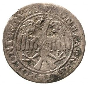 trojak 1528, Kraków, głowa orła w lewo, H-Cz. 285 R3, T...
