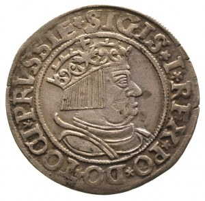 grosz 1534, Toruń, patyna