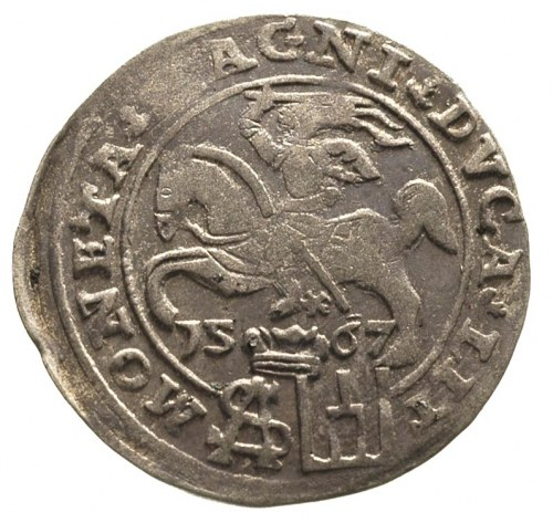 grosz na stopę polską 1567, Tykocin, odmiana z trójlist...