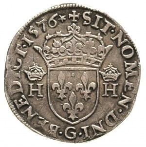 teston 1576, Poitiers, Duplessy 1126