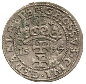 grosz oblężniczy 1577, Gdańsk, moneta bez kawki - wybit...