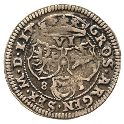 szóstak 1585, Wilno, Aw: Popiersie króla w prawo i napi...