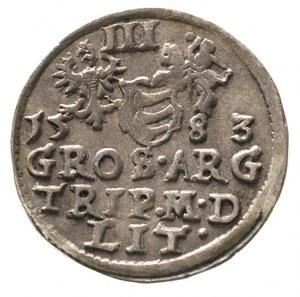 trojak 1583, Wilno, Ivanauskas 778:127, patyna