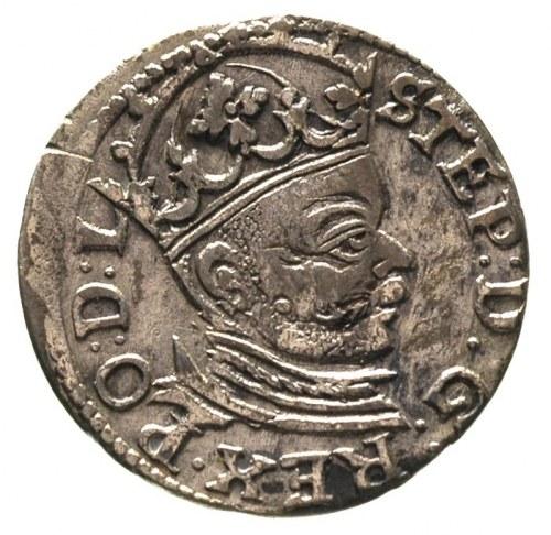 trojak 1583, Ryga, Gerbaszewski 16, nieregularna patyna