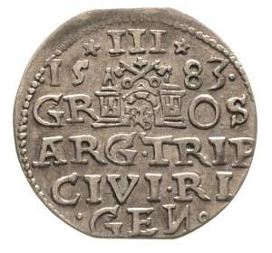 trojak 1583, Ryga, Gerbaszewski 9, patyna