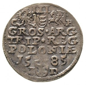 trojak 1585, Olkusz, odmiana z literami G - H po bokach...