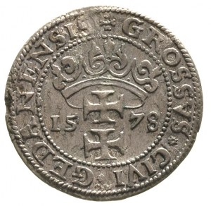 grosz 1578, Gdańsk, odmiana bez gwiazdki po GEDANENSIS,...
