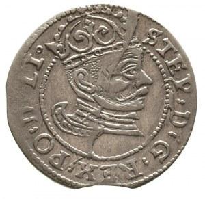 grosz 1582, Ryga, Gerbaszewski 1, moneta wybita pęknięt...