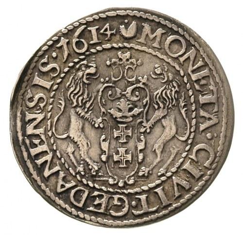 ort 1614, Gdańsk, odmiana z małą cyfrą 4 i kropką nad ł...