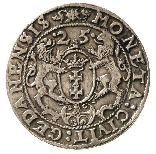 ort 1625, Gdańsk, na awersie odmiana napisu L . R : P ....