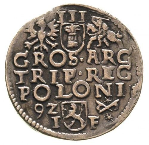 trojak 1592, Poznań, patyna