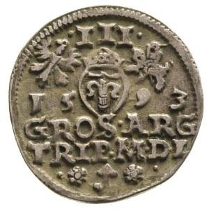 trojak 1593, Wilno, Ivanauskas 1060:209, patyna
