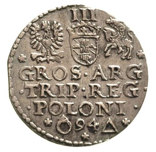 trojak 1594, Malbork, nieco niecentrycznie wybity