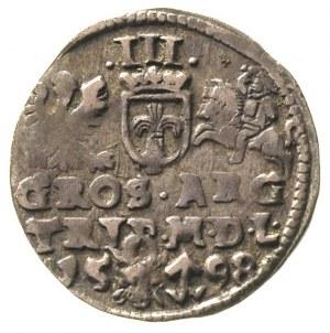 trojak 1598, Wilno, Ivanauskas 1071:215, T. 2, ciemna p...