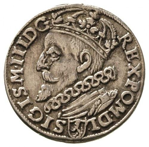 trojak 1601, Kraków, popiersie króla w lewo