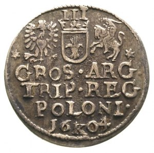 trojak 1604, Kraków, ciemna patyna
