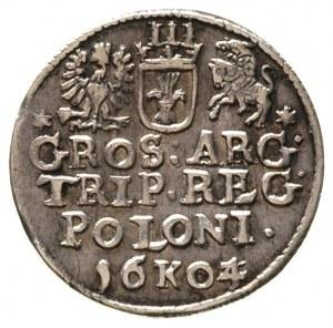 trojak 1604/3, Kraków, przebitka daty, patyna