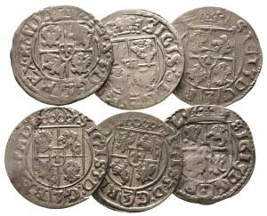 zestaw półtoraków 1614 i 1616 Kraków oraz 1615, 1616,16...